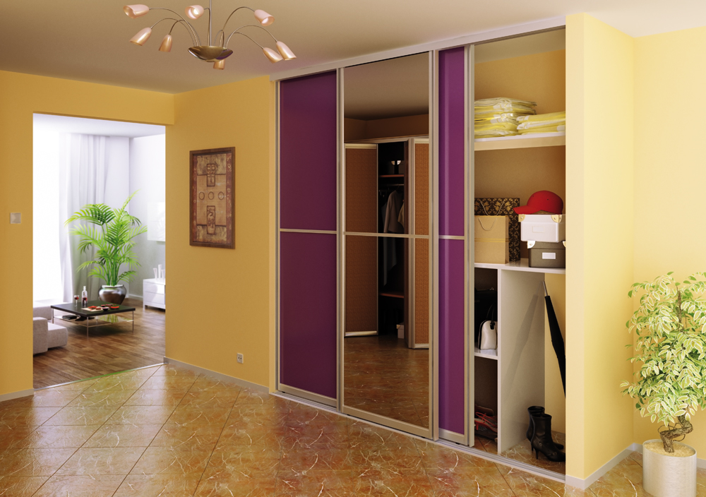 Mirror and Color siding doors